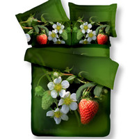 Wholesale gray queen bedding sets for sale - 3D designs cotton fabric bedding set queen king size reactive printing good fastness four season of flower with your sleep dreem