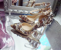2017 Lady Gorgeous Nightclub Casamento Shoes 8cm e 10cm High Heels 3D Floral Applique Ponited Toe Sandálias Mulher Casamento Bridal Dress Shoes