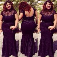 fiesta-stil großhandel-Plus Size Fat Frauen Abendkleider 2016 Spitze Backless Abendkleider Formale sowie ebi Stile Vestidos De Fiesta Besondere Anlässe sowie Kleidung