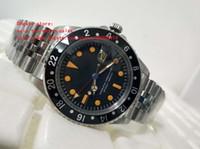 eski kırmızı saat toptan satış-Son Yüksek Kalite İzle 40mm Vintage 1675 Kırmızı GMT Safir Cam Asya 2813 Hareketi Mekanik Otomatik Mens Saatler
