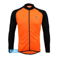 Wholesale Fast Sport Bikes - Wholesale-Brand New Men Breathable Running MTB Bike Bicycle Cycling Full Sleeve Jersey Outdoor Sports Clothing Coat Free Fast Shipping