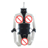 Männer BDSM Spielzeug Körper Harness Getriebe Keuschheit Cock Ring Restrain Bondage Body Harness Leder Systemische Set Alternative Stimulation Erwachsene Sex