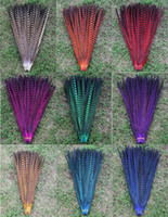 "Wholesale Pheasant Feather Rooster - ustom colors pheasant tail feathers rooster feathers jewelry craft hat mask feather hair extention 100pcs approx 20-22"" (50-55cm )"