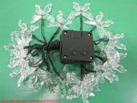 solar supply led Canada - Wholesale-20pcs Christmas solar outdoor butterfly lights festival garden butterfly string lights Christmas tree LED light string supplies