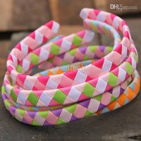 Wholesale Cute Headbands Handmade - NEW 15colors handmade grosgrain ribbon Woven Headband cute baby ribbon woven headband Girls hair accessories 6076