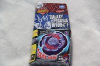Wholesale Galaxy Pegasis Beyblade - New Arrive!! Galaxy Pegasus (Pegasis) W105R2F Metal Fury 4D Legends Beyblade BB70 Hyperblad Without Launcher