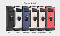Wholesale Car Case Silicone - Ring Holder Magnetic Car Holder Case For Iphone X IphoneX 7 8 6 6S Plus I7 Huawei P10 LG G6 V30 LV3 LV5 K8 K10 2017 Shockproof Armor Cover