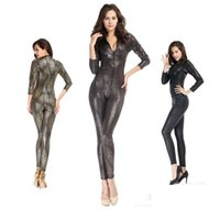 Wholesale Cosplay Gold Catsuit - Hot&Sexy Zentai Women Nightclub Costumes Snake Print Cosplay Wild Elasticity Women Bodysuits Stage Show Myths Legends Lady Temptation