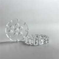 Wholesale hold free - 20mm 4mm Thick Quartz Insert Snowflakes with 7 Oil Holes Hold Temperature Quartz Phat Thermal Skillet Banger Nail for Smoking