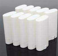 deodorant boş şişe toptan satış-DIY 15 ml Boş Beyaz / şeffaf dudak balsamı ruj krem tüp şişe Ağız Dudak Balsamı Çubuk Örnek Kozmetik Konteyner plastik Deodorant tüpler