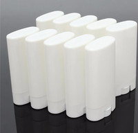 envases cosméticos desodorante al por mayor-DIY 15 ml Vacío blanco / transparente bálsamo labial crema de labios botella de tubo Boca Bálsamo labial Stick Sample Cosmetic Container tubos de plástico desodorante