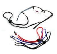 Wholesale Black Nylon String Cord - Adjustable Eyeglass Holder Nylon Cord Glasses Eyewear Neck Sports Strap String Black Red Blue Brown 48Pcs Lot Free Shipping