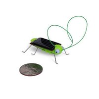 Wholesale Solar Powered Crickets - Solar Power Toy Energy Crazy Grasshopper Cricket Kit christmas gift Toy Free Shipping