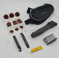 Atacado-o ciclismo da bicicleta pneu pneu Multi-purpose Kit Repair Tool Bag Tubo cola remendo bomba C0005