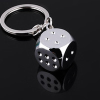 Super Deal New Creative 1 Pcs Chaveiro Metal Genuine Personality Dice Alloy Keychain para Car Key Ring Trinket Atacado A