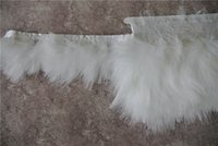 Wholesale Turkey Wedding Decoration - Free Shipping 10yards lot white Marabou turkey feather trim fringe 3-4inch wide for crafts weddings costumes supplies