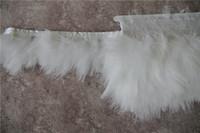 yards kostüm trimmen großhandel-Freies Verschiffen 10 yards / lot weiß Marabou türkei feder trim fringe 3-4 zoll breit für handwerk hochzeiten kostüme lieferungen