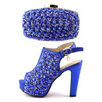 Wholesale Clutch Matching Shoes - Italian shoes and clutch bag set ,wholesale shoes matching purse set high heel woman shoes and bag set with rainstones