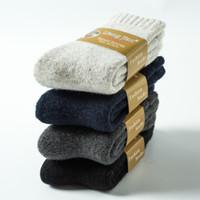 calcetines al por mayor-Calcetines de mezcla de lana calcetines gruesos de invierno mezcla de lana caliente de invierno calcetines ocasionales de la comodidad del lazo
