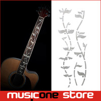 Wholesale Gold Metal Guitar - Guitar Fret Inlay Stickers Tree Of Life J.Custom Fretboard Decals Marker For Acoustic Electric Guitarra Fret Neck New light Gold MU1288-3