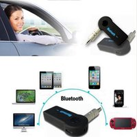 Barato Adaptador De Áudio Bluetooth Portátil-Portable Bluetooth Car Kit bluetooth carro receptor 12v 3.0 Bluetooth Música Audio Stereo Adaptador receptor para carro AUX IN Home Speaker MP3