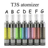 ingrosso atomizzatori di kanger evod-Alta qualità Kanger T3S da 2.2ohm 1.8ohm bobine 3.0ml Atomizzatore con bobine MT3 Clearomizer per evod vision spinner 2 kit di partenza