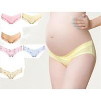 Wholesale Pregnant Women Underwear - 3PCS Cotton Pregnant Underwear Pregnancy Low-waist Briefs Women Panties Intimates