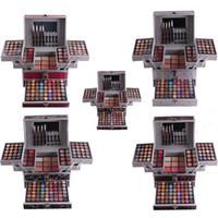 Wholesale Sponge Lining - Hot 132 Colors Professional Makeup Sets MISS ROSE 94 Colors Eyeshadow 12 Colors concealer Powder Cake Labial Line Pen Sponge Stick DHL Free