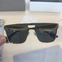 Wholesale Italian Fashion Designer - Luxury Brand Sunglasses Summer Style Blue Silver Lens Women Sunglasses UV Protection Italian Designer Fashion Oval Designer Come With Box