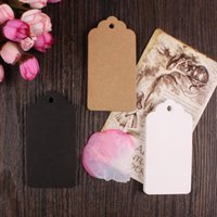 "Wholesale Kraft Paper Gift Tags - 4.5*9cm 100Pcs  Lot Vintage Kraft Paper Clothing Boutique Jewelry Price Hang Tag 1.77""x3.54"" Gift Greeting Craft Paper Hang Tags"