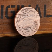 Wholesale Uh Helicopter - American Air Force UH-72 helicopter Coins