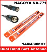 Wholesale Dual Band Antenna Sma Female - NAGOYA NA-771 SMA-F SMA-Female Dual Band Soft Antenna VHF UHF 144 430MHz for Baofeng UV-5R UV-5RA UV-B5 BF-888S Two Way Radio Free Shipping