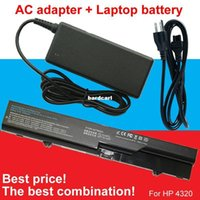 Wholesale Hp Probook Adapter - Free shipping- 1pcs Adapter+1pcs laptop battery For HP ProBook 4325s 4320s 4321 525s 4321s 4520s 4320t 4326s 4420s 4421s 4425s 4520 620 625
