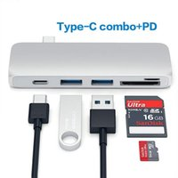 5 en 1 HUB combo tipo C + PD SD + ranura para tarjeta TF + USB-C TO 3.0 HUB adaptador multipuerto para Apple Macbook Air Pro