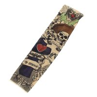Wholesale tattoo arm sleeves skulls - Wholesale- Skull Scorpion Stretchy Temporary Tattoo Arm Sleeve Stocking for Child
