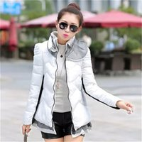 Wholesale Down Women Ae - Wholesale-2015 Hot Sale Winter Jacket Women Casual Ladies Ruffles Winter Parka Solid Lace Down Cotton Coat Size M-2XL AE-AY-035