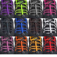 Wholesale Triathlon Wholesaler Sales - Hot Sale Elastic Laces Lock Shoelaces Running Triathlon Sports Shoe Trainer Fits All Size Shoes Free Shipping