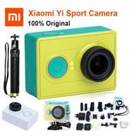 vidéos hd caméra india achat en gros de-Caméra de sport d'origine Xiaoyi Xiaomi yi WiFi Action Mi Caméra de sport 16MP 60FPS WIFI Ambarella Bluetooth 4.0 Etanche Smart Cam Free DHL