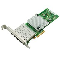 Wholesale gigabit card - Wholesale- I350AM4 Chipset Quad Port Gigabit Fiber Server Adapter PCI-E x8 NIC Card I350-F4