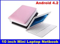 Wholesale Android Computer Hdmi - 2015 New Wifi Android 4.2 10 inch Mini Laptop Netbook Computer VIA8850 1.5GHz 512M 4GB + Webcam Free Shipping