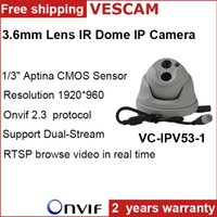 P2P Mini ip cctv di sorveglianza telecamera dome 1280 * 960 HD di rete 1.3MP telecamera dome interna IR Cut Filter compressione H.264