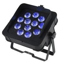 dj led yıkama toptan satış-Yeni MF-P1218 Dj LED Ince Par Işıkları DJ Aydınlatma 6in1 RGBWA UV Led Lamba Ile Yıkama Işık DMX 6/10 Kanallar
