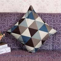 Wholesale Geometric Pillow Covers - Vintage Throw Pillow Case Sofa Waist Pillow cases Car Cushion Cover Home Decor Geometric Decorative Square Pillow Cushion Cover