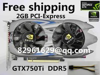 Wholesale Nvidia 2gb Graphics Card - Wholesale-100%NEW 2015HOT nVidia GeForce GTX750ti 2GB DDR5 high-end placa de Video Card geforce game graphics card Support DirectX11