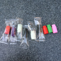 Wholesale Disposable Testing Caps - Individually wrapped Plastic drip tips Disposable Colorful Silicon testing caps rubber short ego Test Tips Tester Cap drip tips For ecig