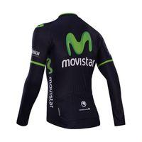 Wholesale Movistar Tops - Wholesale-2015 winter Movistar cycling clothing includes winter thermal cycling jackets and bib pants   custom cycling shirts & tops
