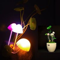 Wholesale Dropship Best Selling - Wholesale-Best Selling Dropship~Energy-saving Colorful LED Mushroom Lamp with Super Lifespan