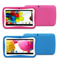 Wholesale pc camera toy online - 7inch children kids tablet pc rk3126 quad core Cortex A9 M G Android tablet pc WiFi Dual Camera Kid Educational Toys
