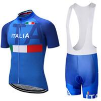 Wholesale Italia Cycling - 2017 TEAM italia cycling jersey 3D gel pad bib shorts suit Ropa Ciclismo quick-dry pro cycling wear mens summer bike shirt bottom L2002
