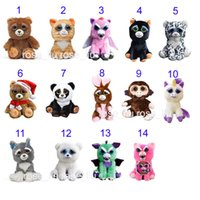 Wholesale B Pets - 20CM(8 Inch) Feisty Pets One second Change face Animals Plush toys cartoon TY monkey bear unicorn Stuffed Animals baby Christmas gift B